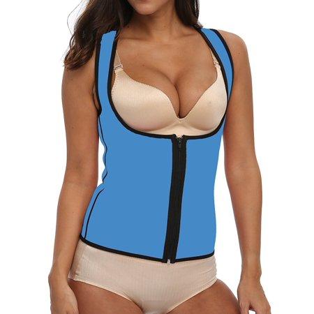 d11f476962 SAYFUT - SAYFUT Women s Shapewear Slimming Vest Waist Trainer Body Shaper  Corset Hot Sweat Neoprene Weight Loss Tank Top Tummy Control Sauna Suit -  Walmart. ...