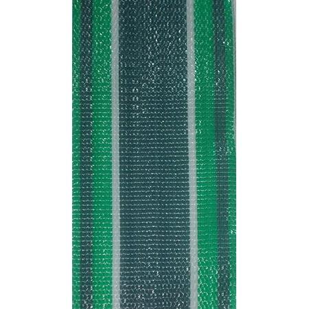 Lawn Chair Webbing - Green Stripe 3 inch wide 90 feet long