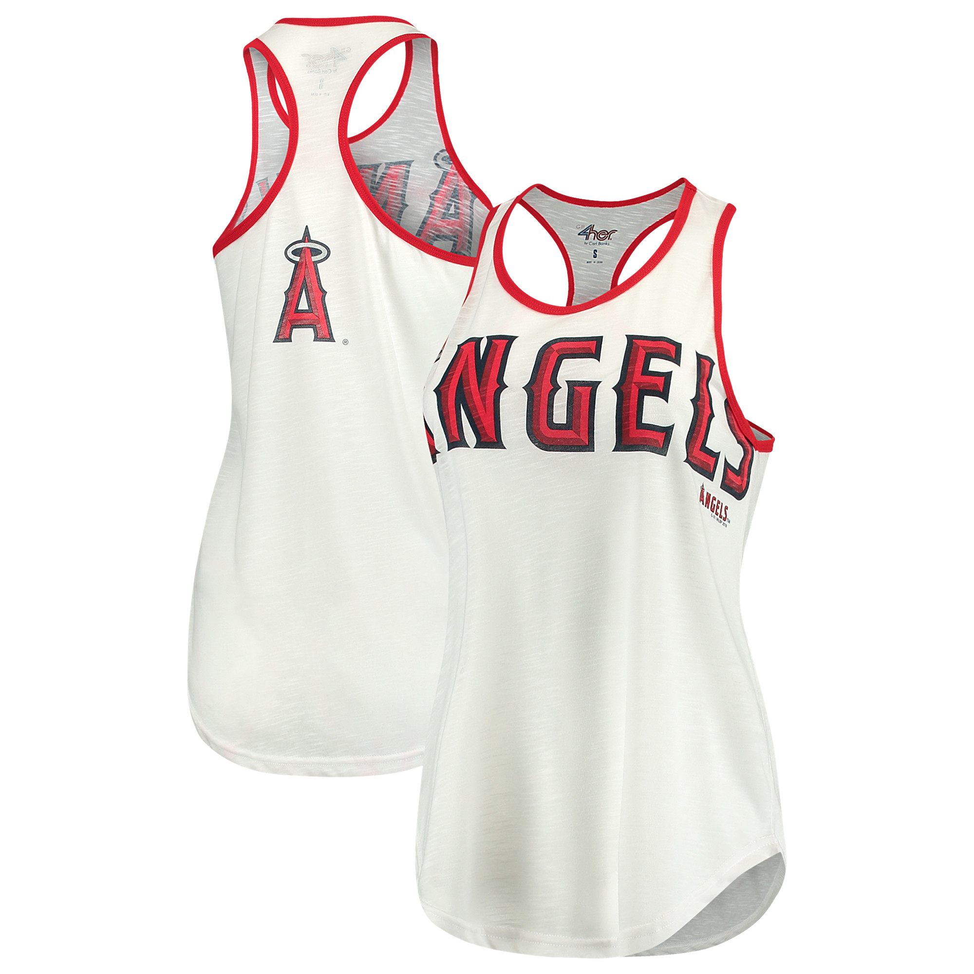 Los Angeles Angels G-III 4Her by Carl Banks Women's Break the Game Tank Top - White