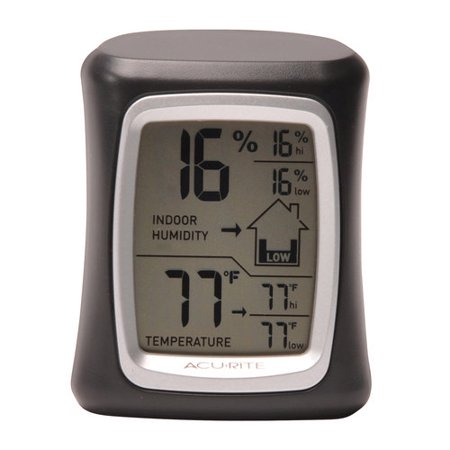 Humidity Thermometer - AcuRite 00325A1 Indoor Temperature and Humidity Gauge