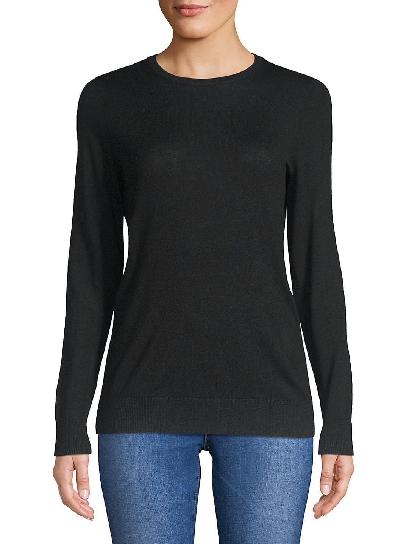 Plus Crewneck Merino Wool Sweater