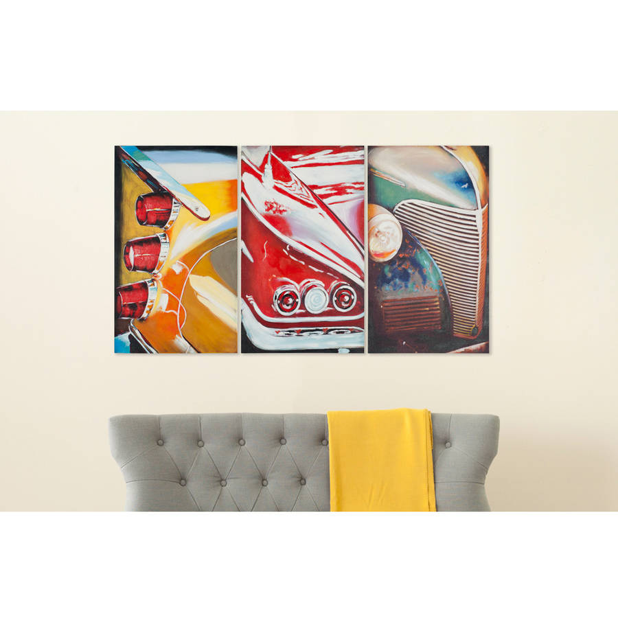 Safavieh Auto Legends Triptych Wall Art, Assorted