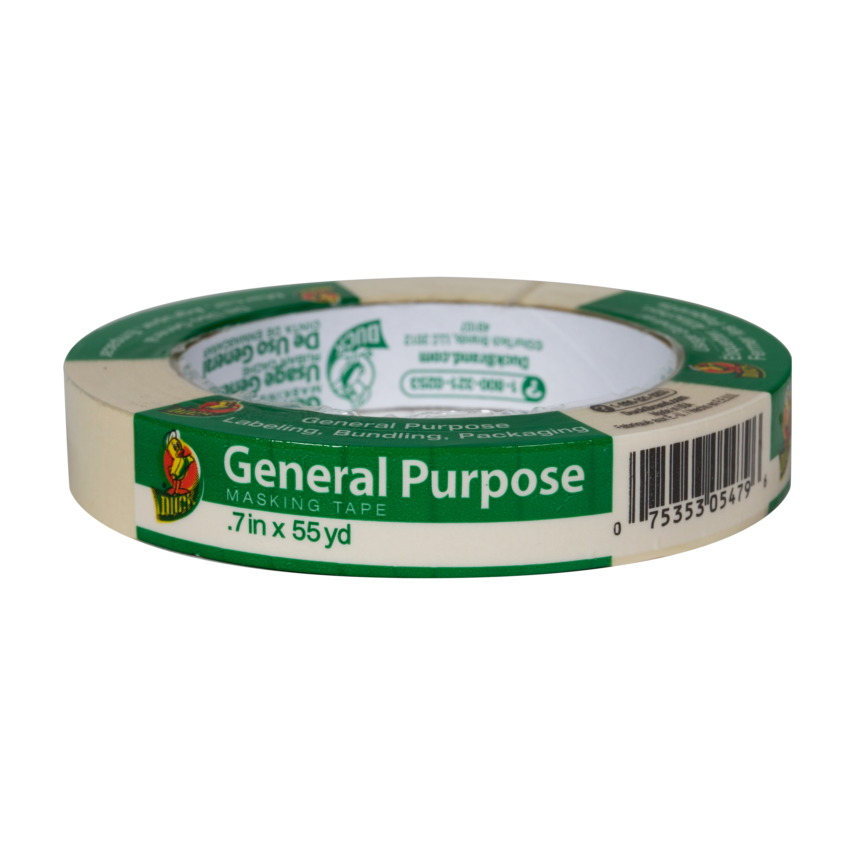 Duck Brand General Purpose Masking Tape - Beige, .7 in. x 55 yd.