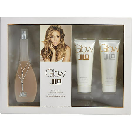 GLOW by Jennifer Lopez - EDT SPRAY 3.4 OZ & BODY LOTION 2.5 OZ & SHOWER GEL 2.5 OZ - (Jennifer Gel)