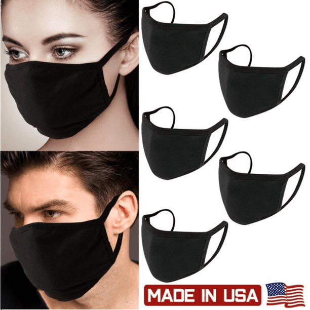 PRO MC 5Pcs Unisex Face Mask Protect Reusable 100% Cotton Comfy Washable Made In USA