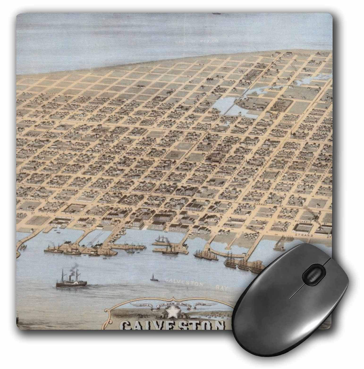 3dRose Galveston, Mouse Pad, 8 by 8 inches by 3dRose