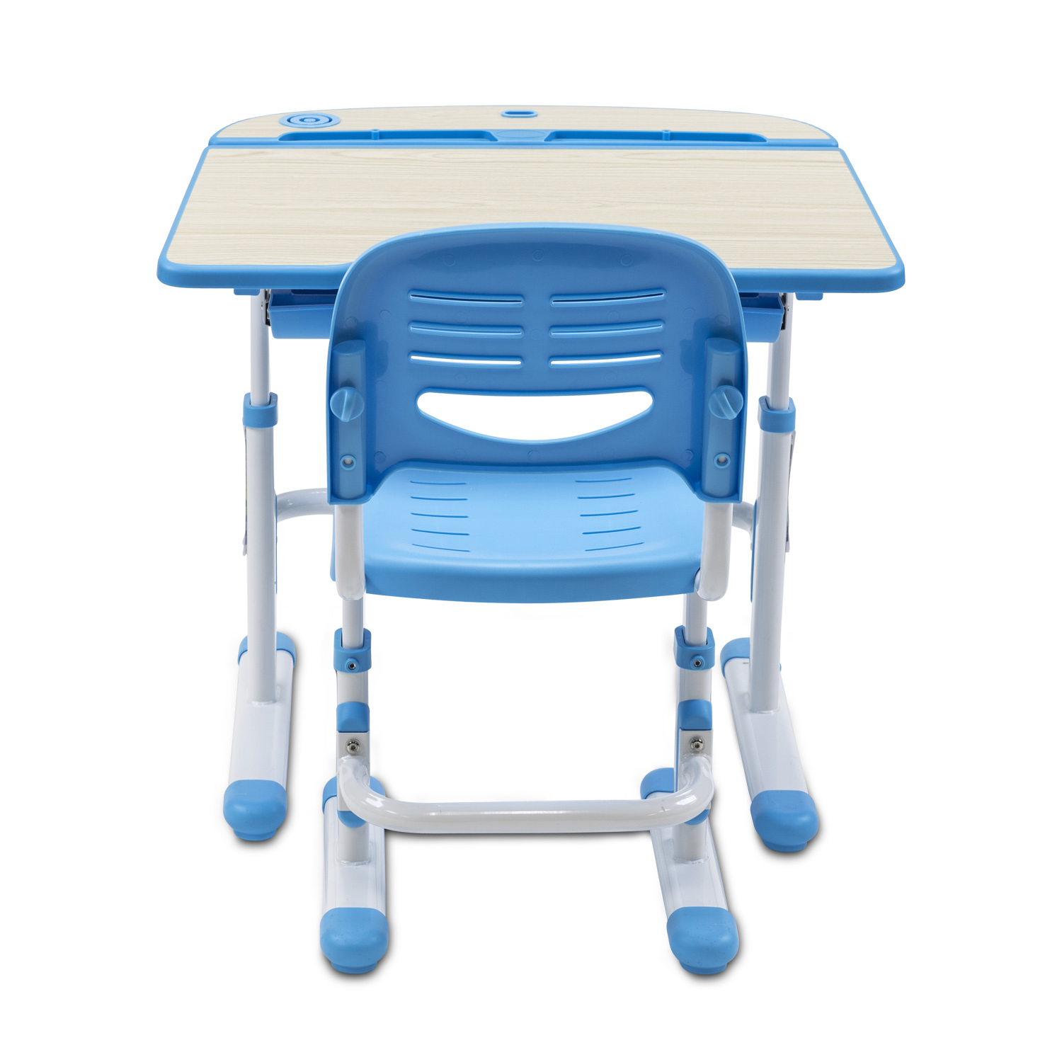 Mount It Childrens Desk And Chair Set Kids School Workstation Blue Mi 10102 Com