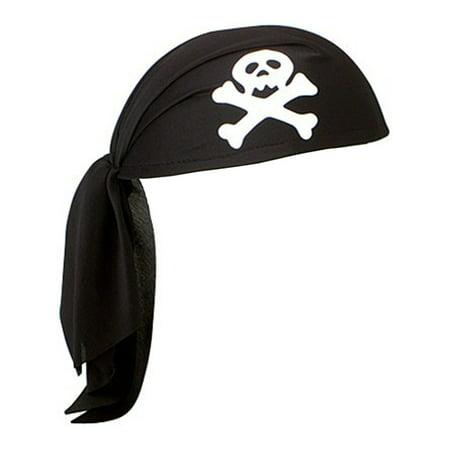 Black Unisex Mens Womens Pirate Skull Scarf Do Rag Hat Bandana Accessory for $<!---->