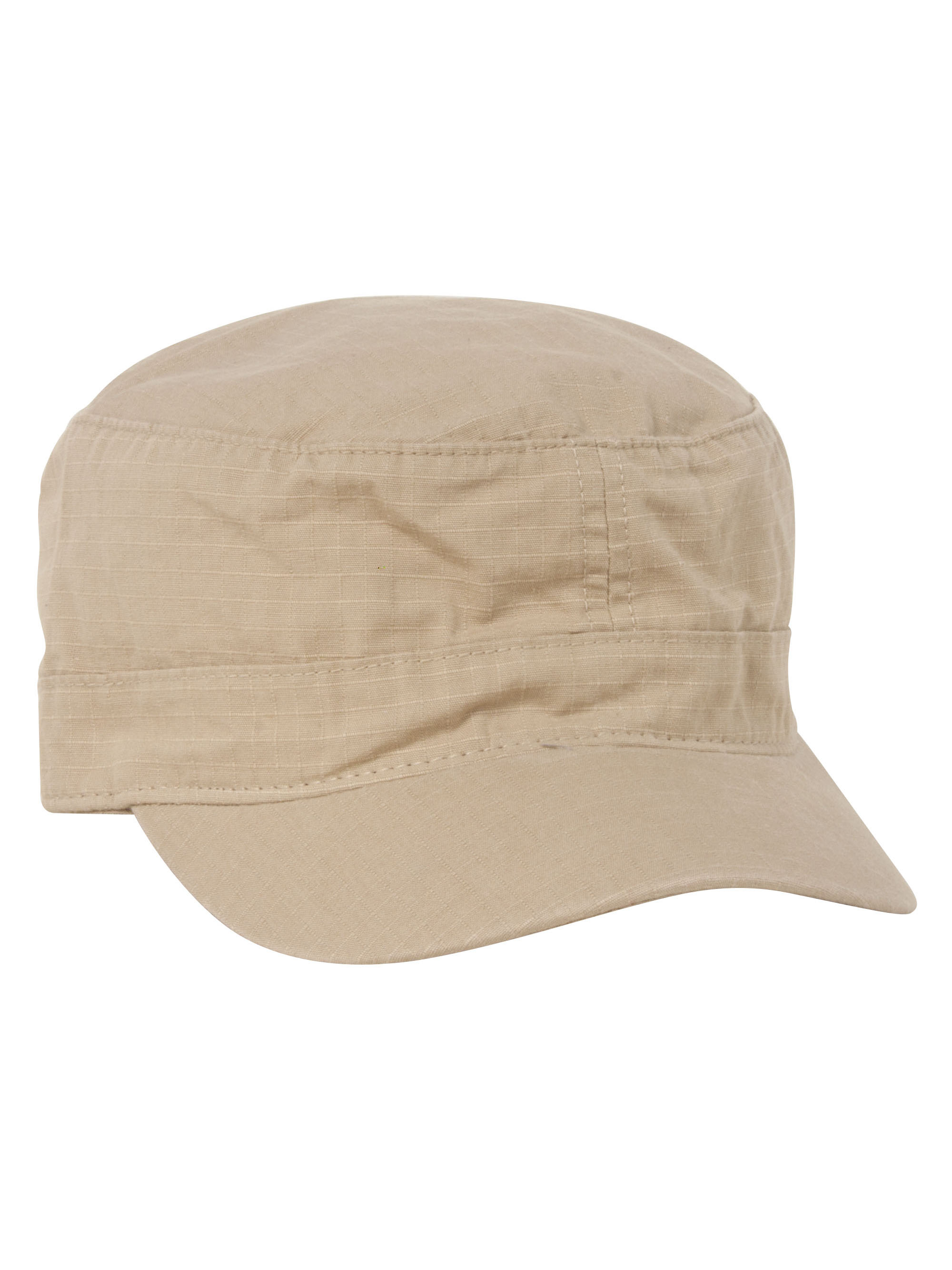 59112a1d Fitted Cotton Ripstop Army Cap, Khaki Small/Medium - image 1 of 2 zoomed  image