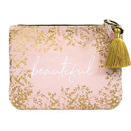 Papaya Art Quartz Gilded Flowers Word Beautiful Pocket Clutch Bag Tassel Handbag