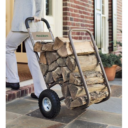 Rolling Firewood Log Cart with All-Weather Cart Cover (Rolling Cart With Cover)