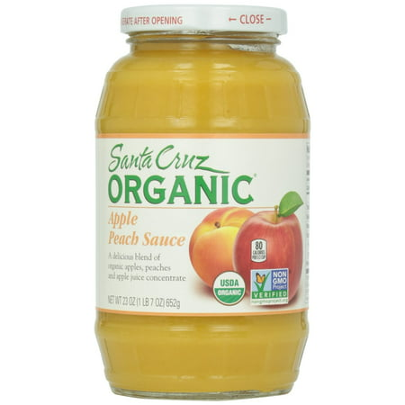(4 Pack) Santa Cruz Organic Apple Peach Sauce Jar, 23 (Best Bolognese Sauce Jar)