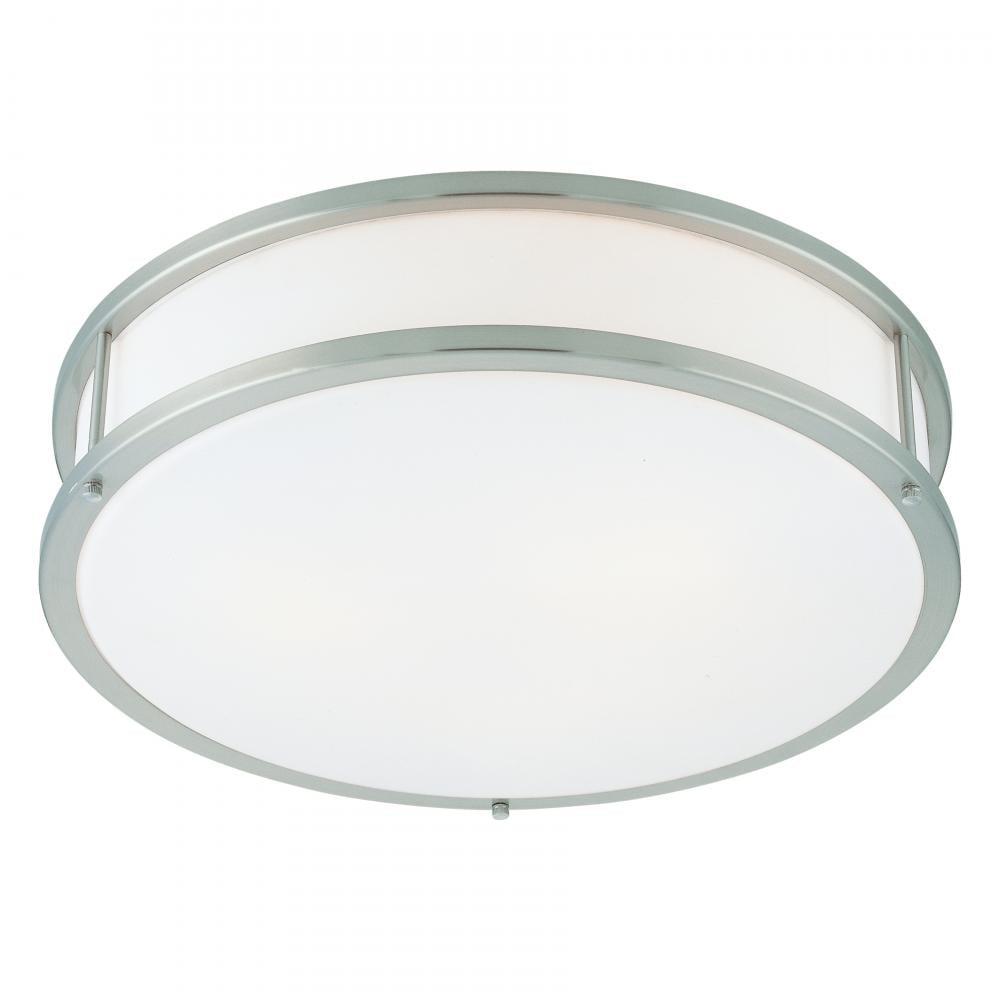 Access Lighting  50081  Ceiling Fixtures  Conga  Indoor Lighting  Flush Mount  ;Brushed Steel / Opal