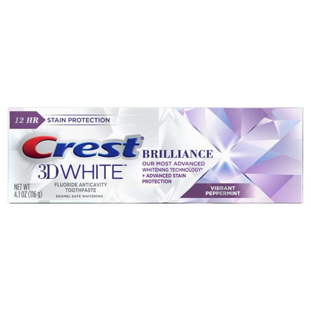 Crest 3D White Brilliance Whitening Toothpaste with Stain Protection, 4.1 oz