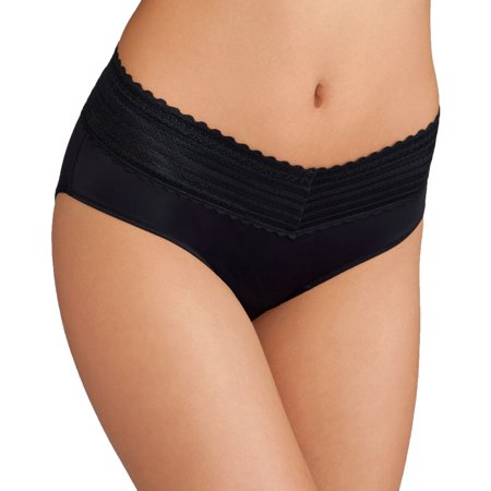 Women's no pinching. no problems. hipster with lace panty, style 5609j - Mossimo Black Hipster