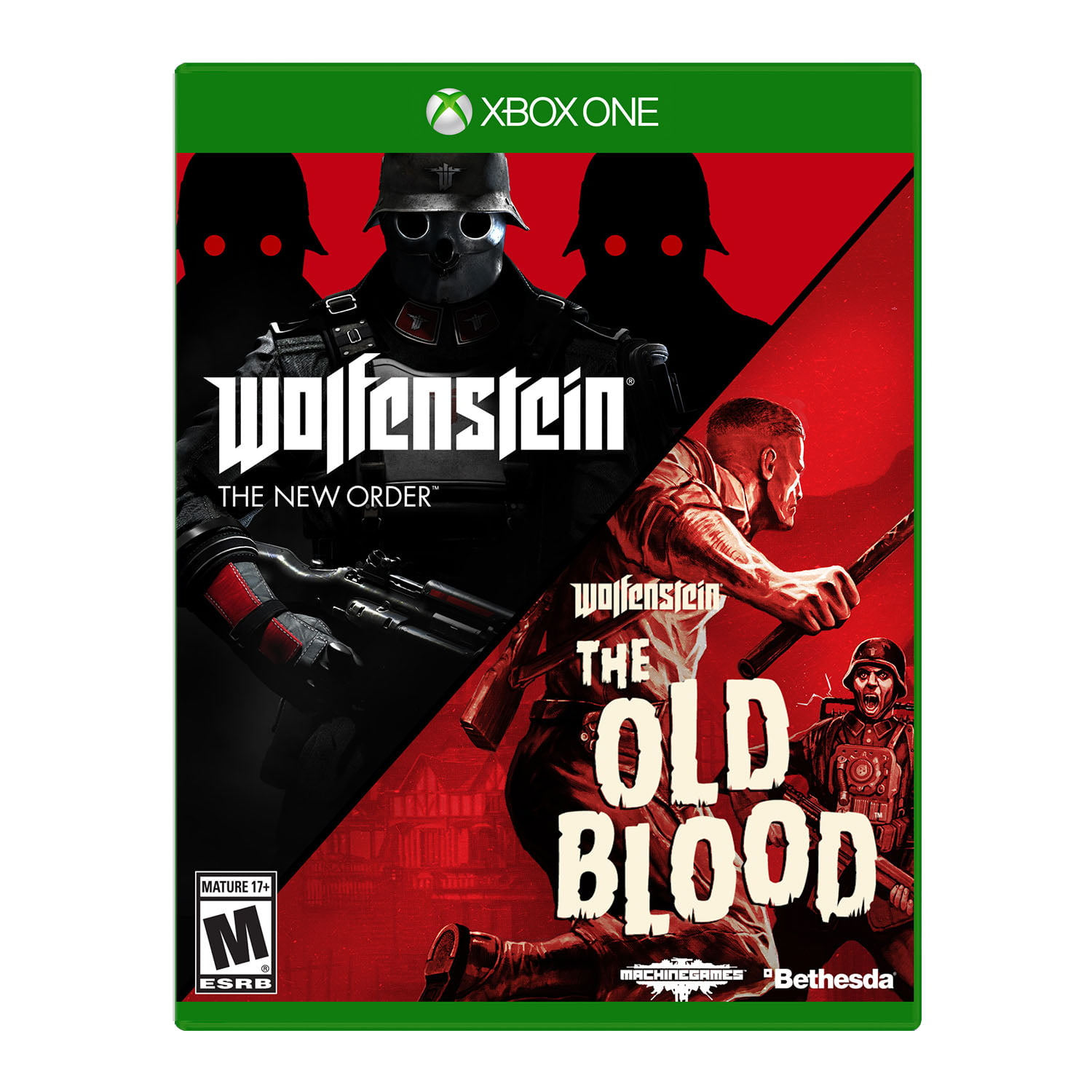 Wolfenstein: The Two Pack, Bethesda, Xbox One, 093155172128 by Bethesda