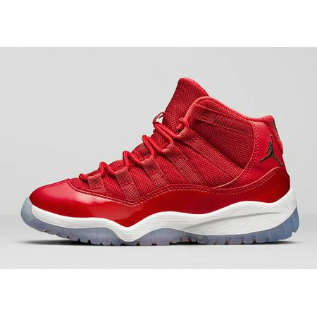 sale retailer 9af59 3d4e0 Kids Air Jordan 11 XI Retro PS Win Like '96 Gym Red White Black 378039