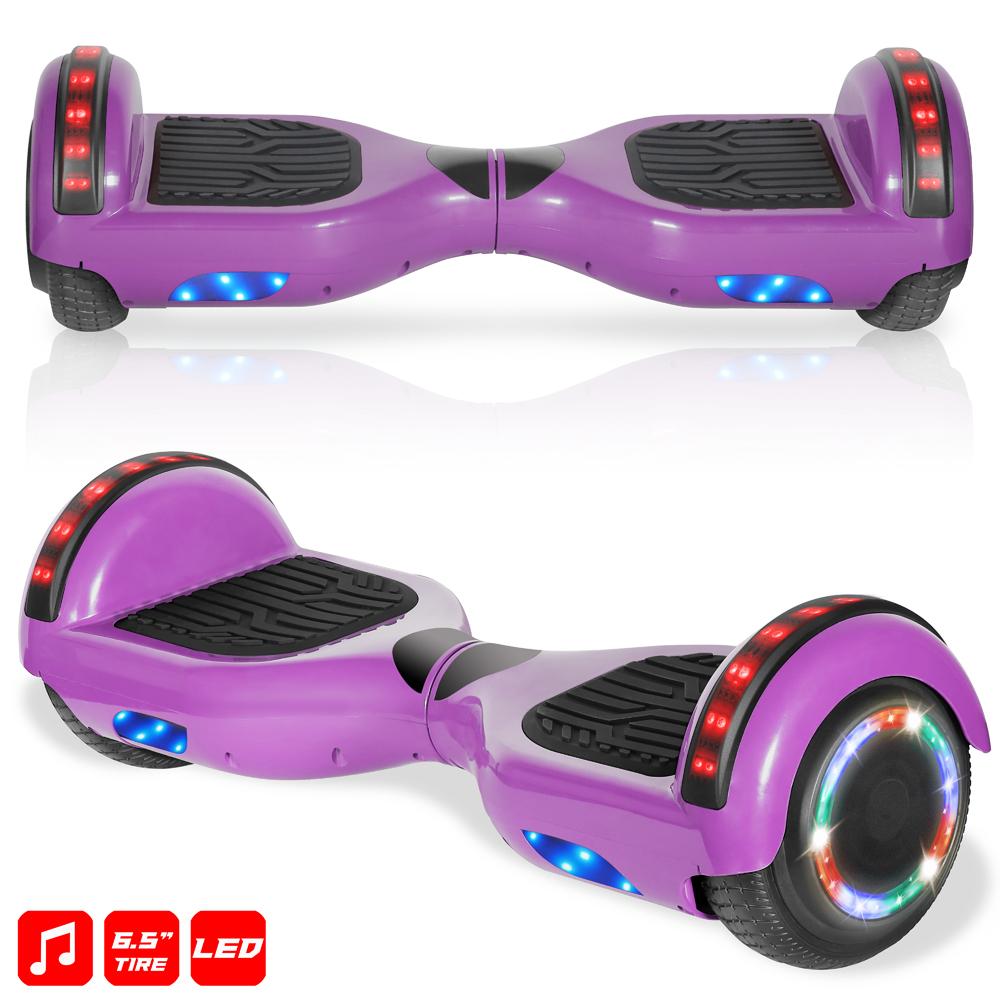 "Details about  /180 lbs Pink Electric Hoverboard 6.5/"" Wheels LED Sensor Lights Bluetooth Speaker"