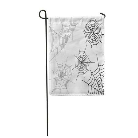 KDAGR Cob of Spider Cobweb Corner Sketch Halloween Dust Garden Flag Decorative Flag House Banner 28x40 inch](Hamlin Corner Halloween)