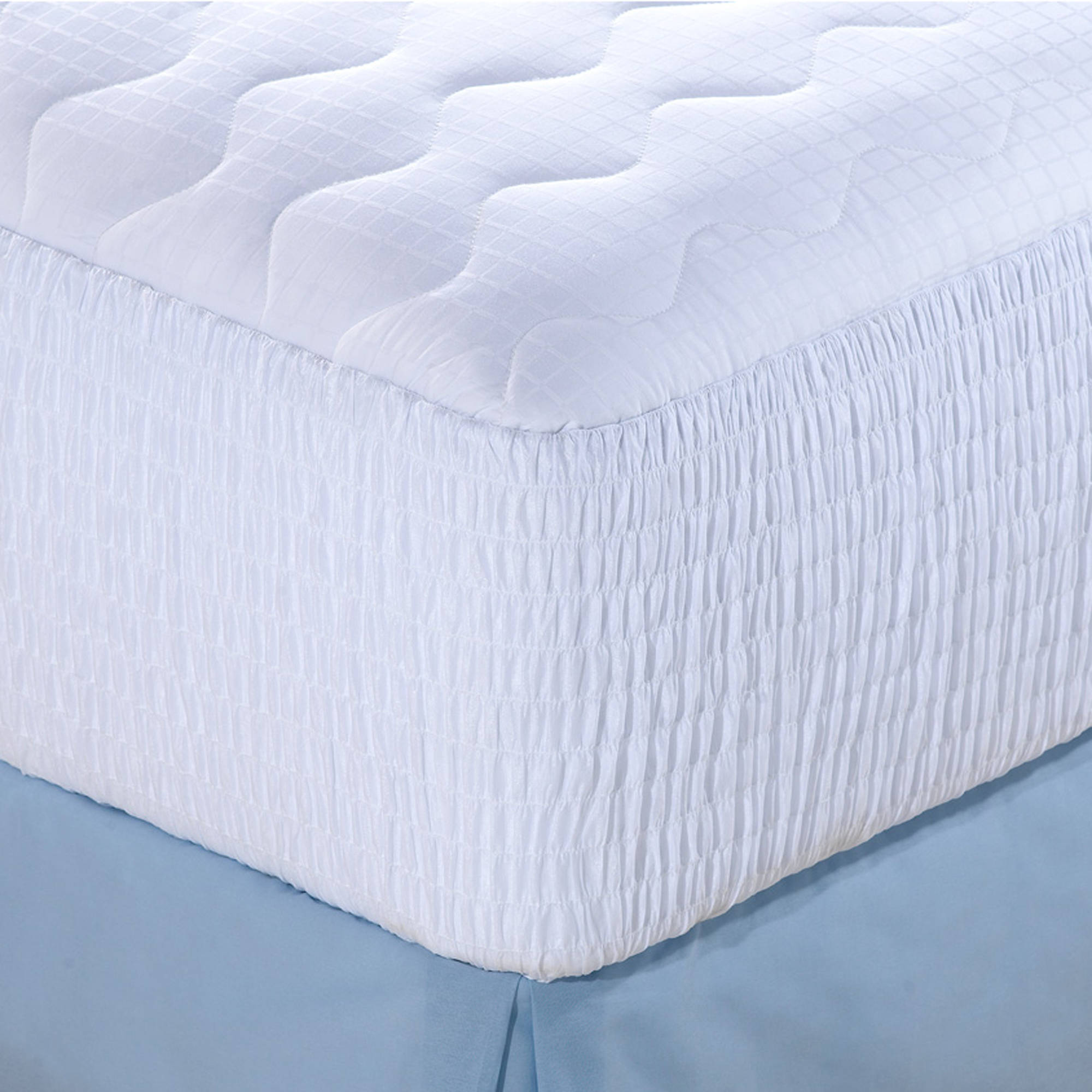 Click here to buy Beautyrest Luxury Cotton Dobby Check Mattress Pad in Multiple Sizes by Hollander Sleep Products.