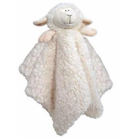 Blankie-Cuddle Bud-Lamb-Satin Trimmed-Cream (18 x 18) (Cuddle Lamb)