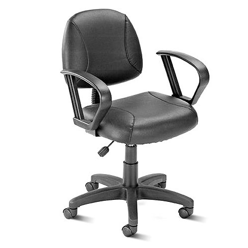 Boss LeatherPlus Task Chair with Loop Arms