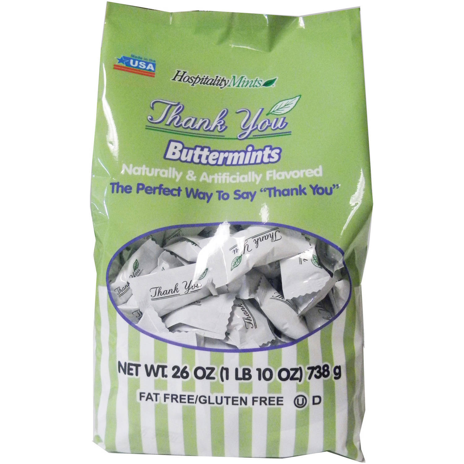 Hospitality Mints Thank You Buttermints, 26 oz