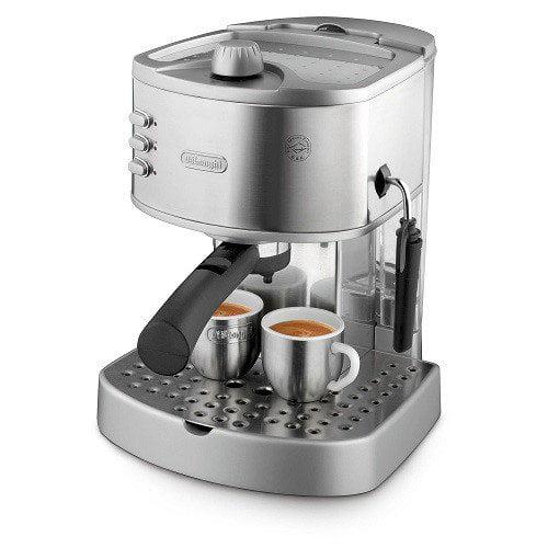 DeLonghi EC330 15Bar Pump Espresso Machine with Manual Frother by De'Longhi