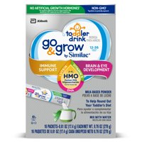 Similac Non-GMO with 2'-FL HMO for Immune Support, Infant Formula Stick Packs, 17.4 g (64-count)