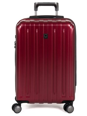 DELSEY Paris Titanium Expandable Carry On Spinner Rolling Luggage Suitcase, Red