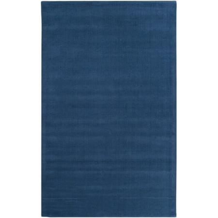 6 X 9 Rogue Love Federal Blue Hand Loomed Wool Area Throw Rug