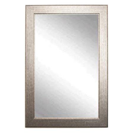 BrandtWorks Modern Wall Mirror - Subway Silver