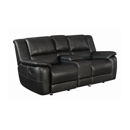 Lee Glider Loveseat with Colsole Black