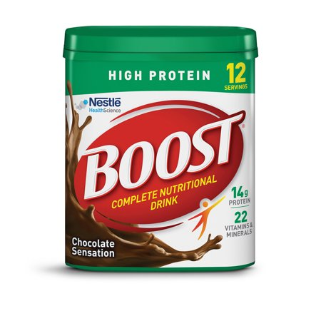 Boost High Protein Complete Nutritional Drink Powder Chocolate Sensation 17.7 Oz Canister Mayan Drinking Chocolate