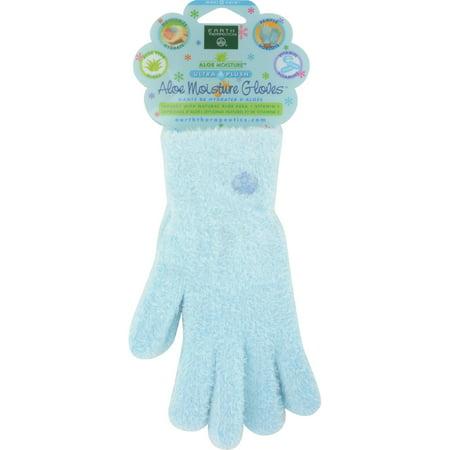 Earth Therapeutics Aloe Moisture Gloves Blue   1 Pair