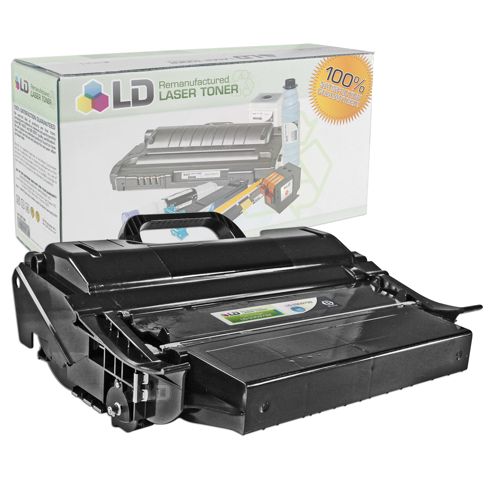 LD Refurbished Toner to replace Dell 330-9792 (PK6Y4) Extra High Yield Black Toner Cartridge for your Dell 5530dn,