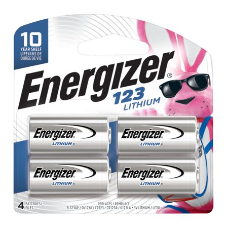 Energizer 123 Lithium Batteries - Energizer 123 Lithium Photo Battery - 4 Pack