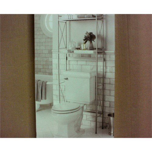 Threshold Square Tube Over The Toilet Etagere Brushed Nickel Walmart Com