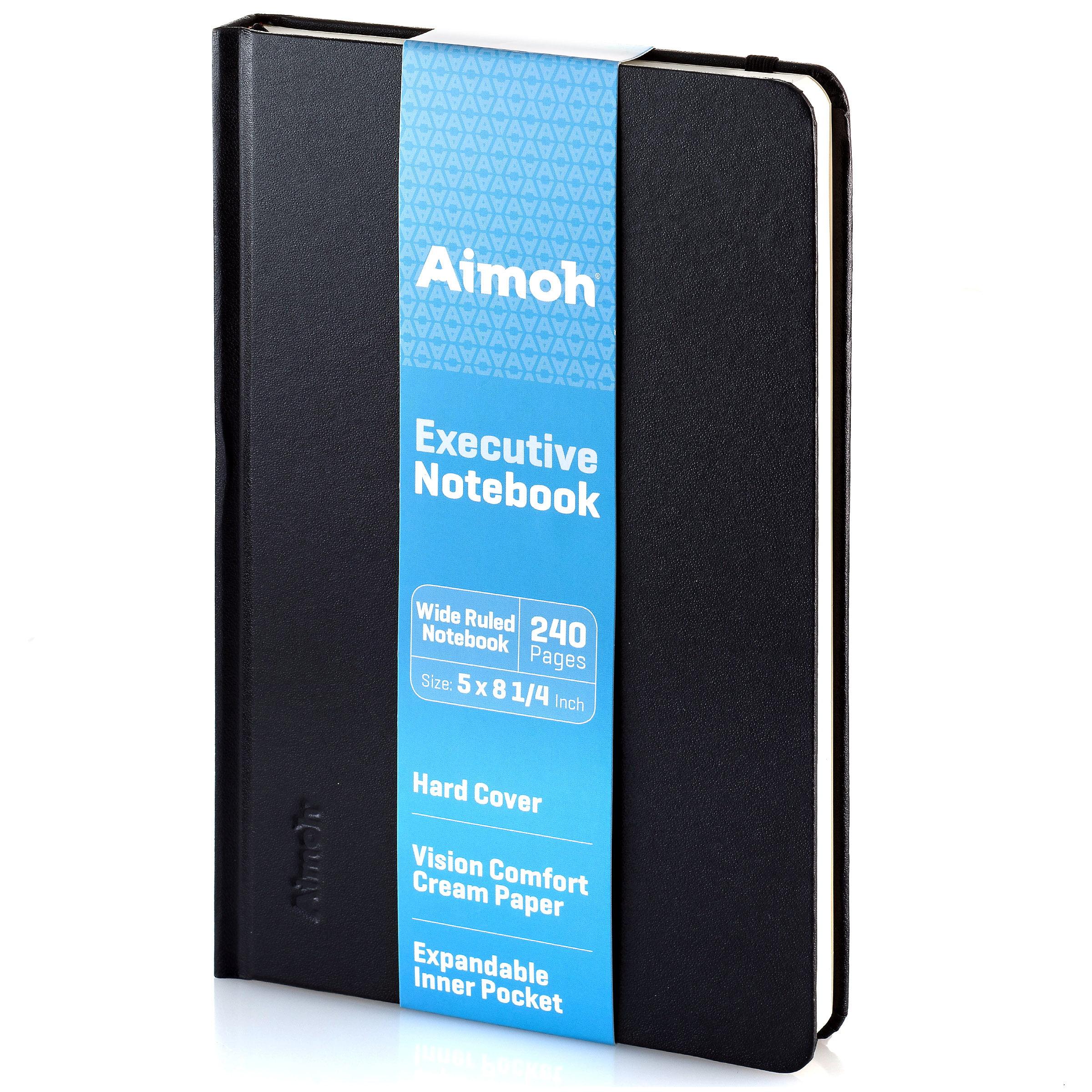"Executive Hardcover Wide Ruled Notebook, 5"" x 8-1/4"" - Elastic Closure (60385)"