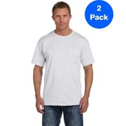 Mens 5 oz. Heavy Cotton HD Pocket T-Shirt 3931P (2 PACK)