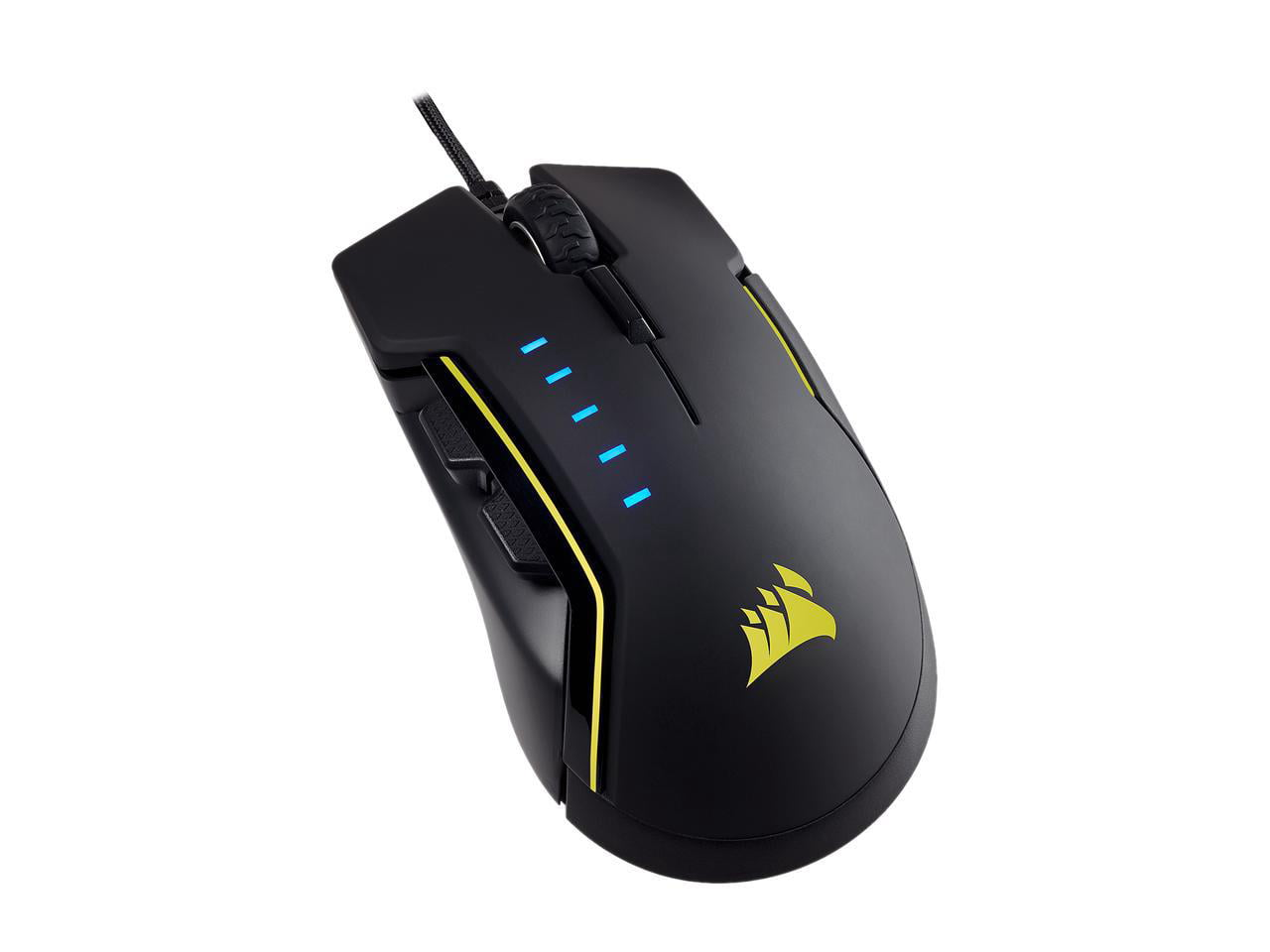 Comfortable /& Ergonomic RGB Gaming Mouse CORSAIR GLAIVE Interchangeable Gr