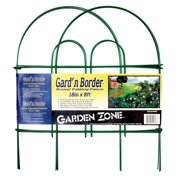 "Garden Zone 041808 Gard'n Border Round Top Folding Fence, Green, 18"" x 8'"