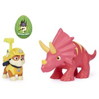 PAW Patrol, Dino Rescue Rubble and Dinosaur Action Figure Set, for Kids Aged 3 and up