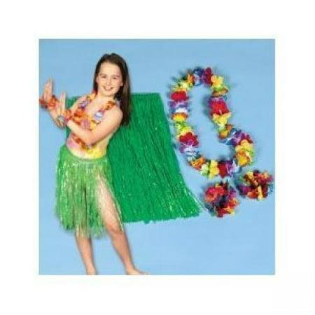 Child Hula Kit - 4 Pc Set Includes Hula Skirt, Flower Lei and 2 Lei Bracelets by SmallToys](Hula Skirts And Leis)