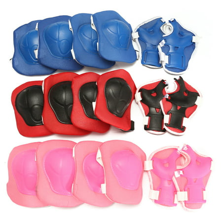 6pcs Kids Scooter Cycling Roller Skating Bicycle Protective Patins Set Knee Pads Guard Elbow Wrist Protector Extreme Sport Protection Christmas