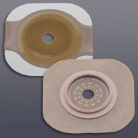 """Colostomy Barrier - Item Number 14204-BX - 2-3/4"""" Flange Blue Code Cut-to-fit, Up to 2-1/4"""" Stoma - 5 Each / Box"""