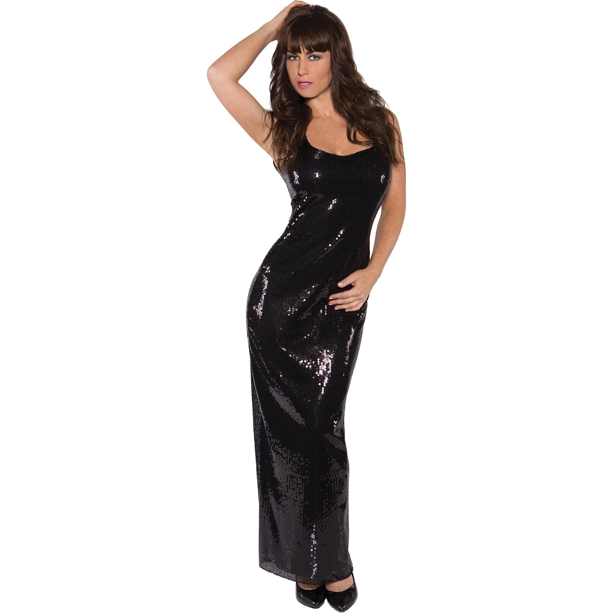 black sequin long dress adult halloween costume walmartcom