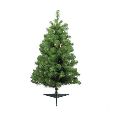 Northlight Seasonal 36'' Green Fir Artificial Christmas Tree with 35 ...