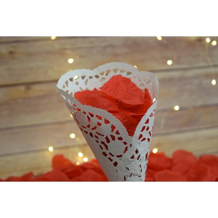 Quasimoon Red Silk Rose Petals Confetti for Weddings in Bulk by - Silk Rose Petals Bulk