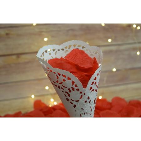 Bulls Silk - Quasimoon Red Silk Rose Petals Confetti for Weddings in Bulk by PaperLanternStore